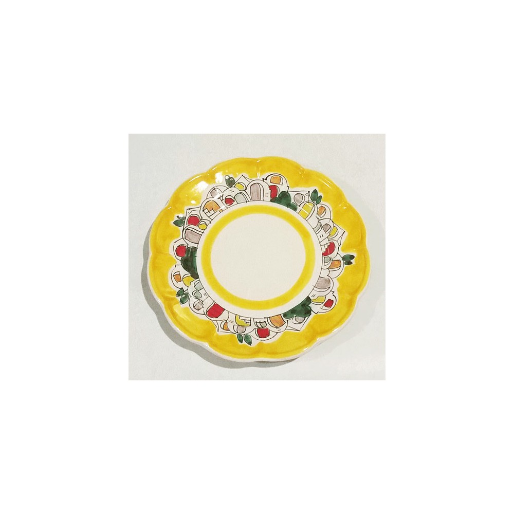 Plate colorful houses design