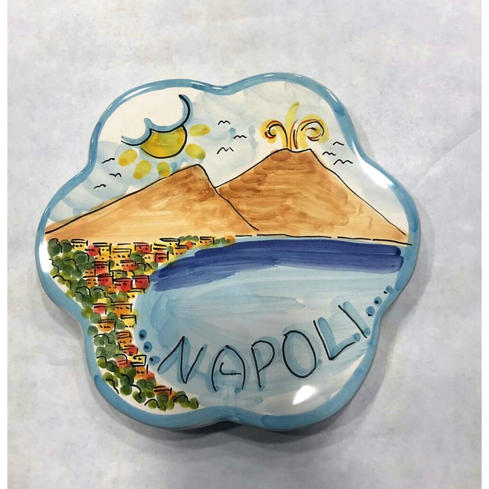 Pot rest with the panorama of Naples