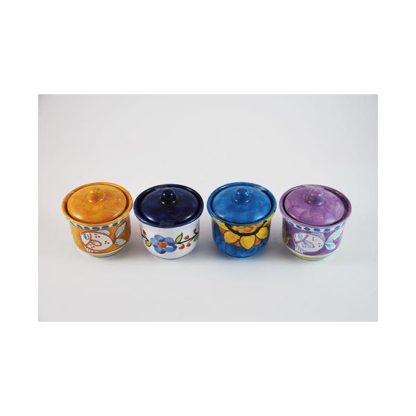 barattolino zuccheriera in vari colori cm.7