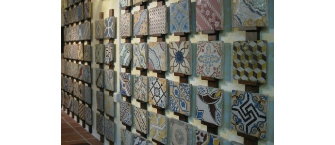 Vietri ceramics decorations and colors, from riggiole to plates